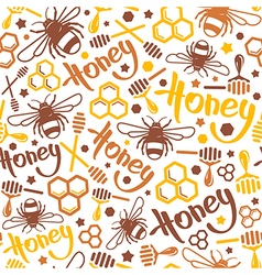Natural honey seamless pattern vector image