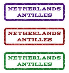 Netherlands antilles watermark stamp vector
