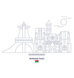 Ouagadougou city skyline vector