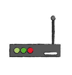 Router device icon vector