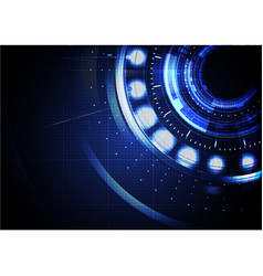 technological abstract digital cyber hud vector image vector image