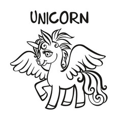unicorn artwork coloring book pages for adults vector image vector image