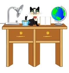 Worker table vector image vector image