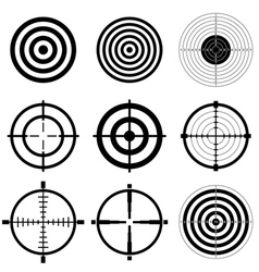 Sniper scope and shooting target icons vector