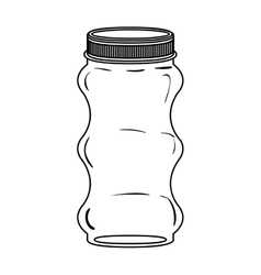 Silhouette irregular glass container with lid vector