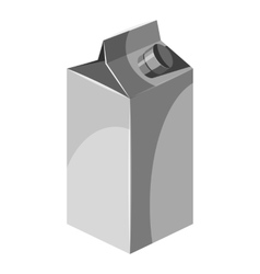 Box for juice with lid icon gray monochrome style vector