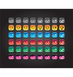 smile set 01 vector image