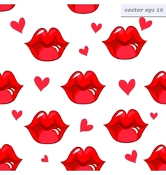 lip pattern vector image