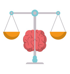 brain balance weight scale vector image