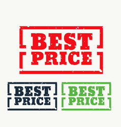 best price rubber stamp vector image