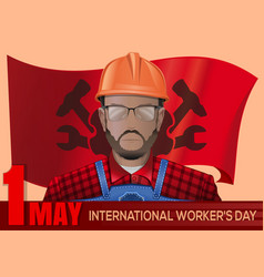 international workers day design 1 may vector image