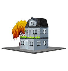 Building design for house painted in gray vector