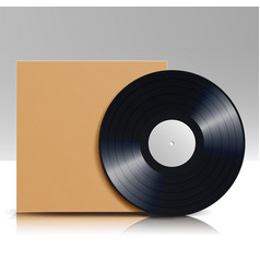 vinyl disc in a case blank isolated white vector image