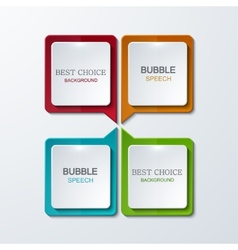 Modern bubble speech icons set vector