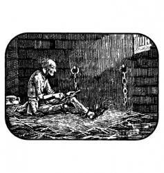 desperate prisoner vector image