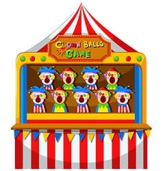 Clown ball game at the circus vector