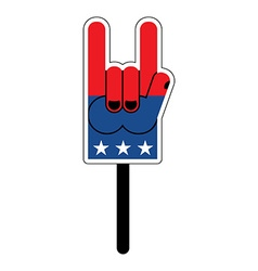 Foam finger for elections in america foam finger vector