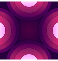 Abstract purple paper round shapes background vector image