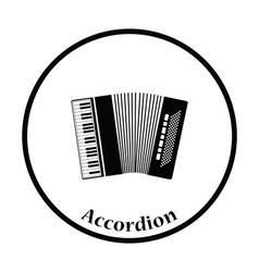 Accordion icon vector