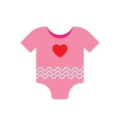 Baby clothes girl vector