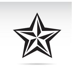 black star icon vector image vector image