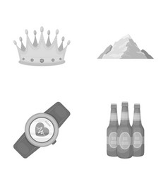 Decoration fitness and other monochrome icon in vector