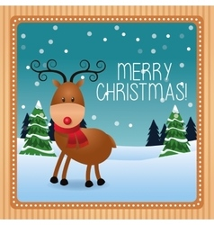 Deer cartoon of christmas season design vector