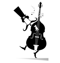 Double bass musician vector image vector image