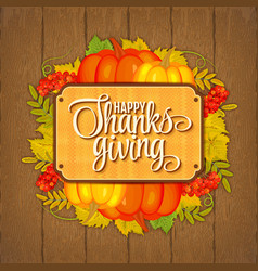 greeting card for thanksgiving vector image