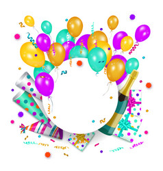 happy birthday banner poster template vector image vector image