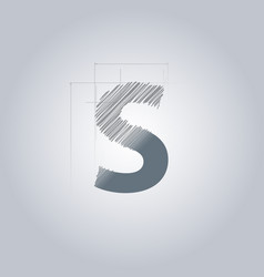 Letter s logo alphabet logotype architectural vector