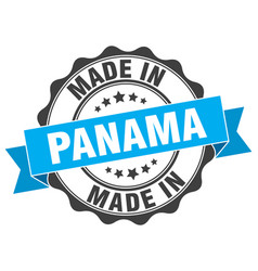 Made in panama round seal vector
