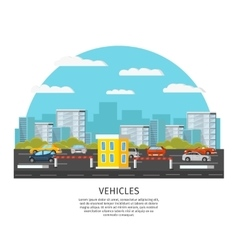 Modern Vehicles Template vector image vector image