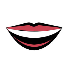 Mouth lips smile comic image vector