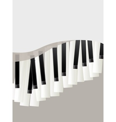 Piano keys retro background vector