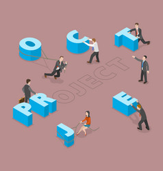 Project flat isometric concept vector