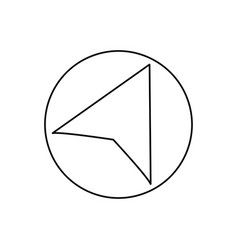 right navigation cursor icon vector image vector image