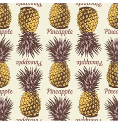 Seamless pineapple retro 1 vector image vector image
