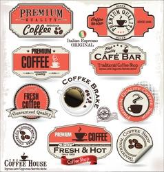 Set of retro vintage coffee labels vector