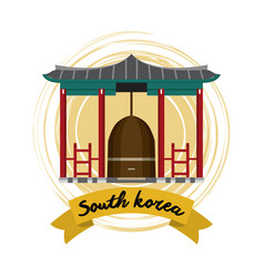 South korea culture vector
