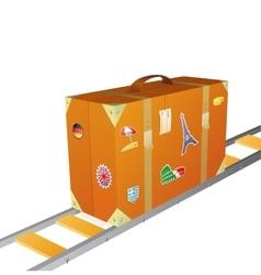 Suitcase concept vector