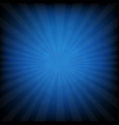 Sunburst blue retro poster vector