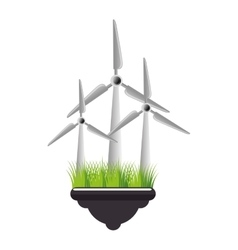 Windmill energy ecology icon vector