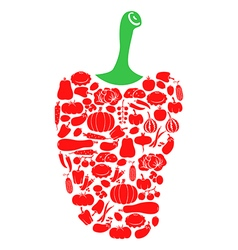 pepper on vegetables vector image