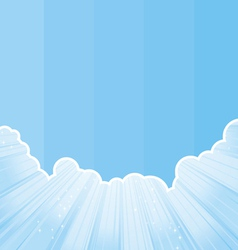 cut sky strip vector image
