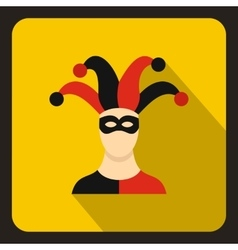 Jester icon in flat style vector