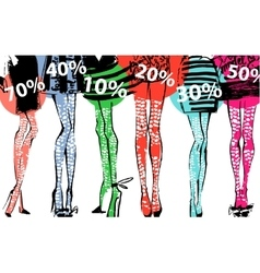 Banner - discount sale fashion vector