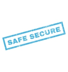Safe secure rubber stamp vector