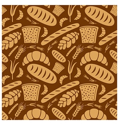 Bread pattern2 vector