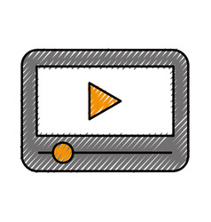 Tablet internet connection vector